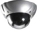Camera surveillance, digital camera in dome mount